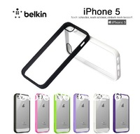 100% original Belkin design TPU silicone protective cover Case For Iphone5 Ultra-thin Case,Mobile phone shell+Free shipping