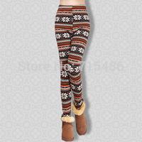 Free Shipping Women Leggings Winter Women Warm Pants Cashmere Snow Trousers Galaxy leggings