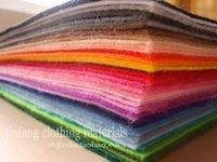 DIY felt fabric set , non-woven felt,30cm*30cm ,45colors/set, 30cm*30cm/pc,give 10 colors thread as gift,free shipping