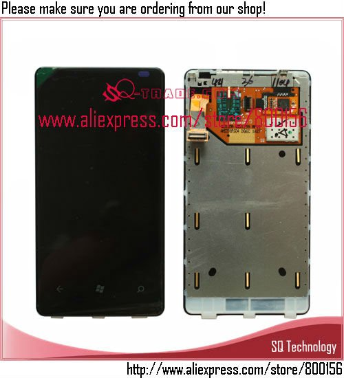 LCD with Touch Screen Digitizer Assembly for Nokia Lumia 800 free shipping