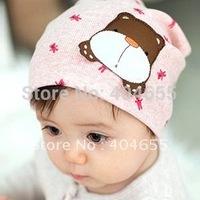 FREE SHIP New Baby Kids 6 Colors hat cartoon dog Unisex Beanie Spring Autumn Children animal caps Merry Christmas