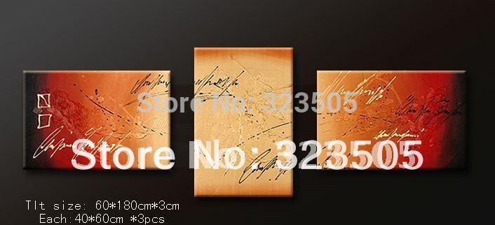 Da parede da lona de 3 painéis Dividir art deco imagem handmade pintura a óleo conjuntos de parede deco frete grátis para Polônia GB Rússia EUA(China (Mainland))