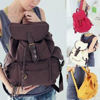 Women New Fashion Cute Canvas Shoulder Bag Backpack 5 Colors Sim GL WHB093