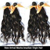"7A Unprocessed Mocha hair Mixed Length  4 pcs Virgin Brazilian Hair Natural Wave Wholesale Natural Color Tangle Free 12""-28"""