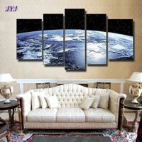 FREE SHIPPING !!! The Earth Map From The Space !! 100% Handmade Modern Abstract Oil Painting On Canvas Wall Art  JYJLV287