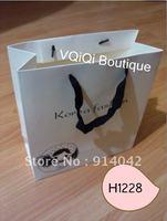 H1228-Wholesale Shopping Handle Bag Shopping Bags MOQ 1000PCS Environmental Reticule Free Shipping Paper Gift Bag
