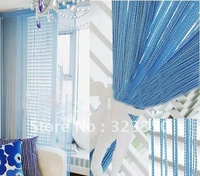 free shipping 1.4m*2.8m single color string curtain/100% polyester string curtain,room divider, 20 color available