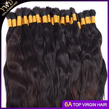 16-34inch natural brown virgin remy Malaysian human hair bulk