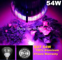 Best E27 PAR Led grow light 54W with 18pcs 3W leds for hydroponics lighting
