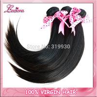 Straight hair extension,malaysian virgin hair mixing 4pcs lot,100% human hair weave bundles Free Shipping