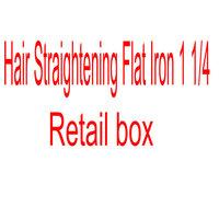 "2014 Hot Sale Retail box ship Ceramic Hair Straightening Flat Iron 1 1/4""  Straightening Irons  Drop shipping by HK Post Blue"