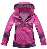 Women Winter Outdoor Snow Sport Skiing Suit Jacket Waterproof Windproof Breathable Thermal Fleece 2in1 jacket