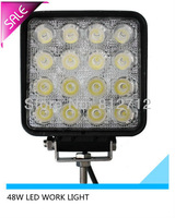 Free shipping 48W LED WORK LIGHT for truck  suv   OFF ROAD  LED light  boat  jeep suv use