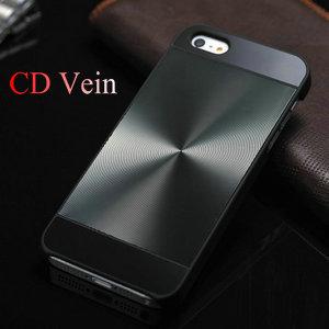 Hybrid CD Grain Aluminum Hard case for iphone 5 5S 5g Luxury back cover Two Tone, metal back + plastic frame 2 in 1 Design