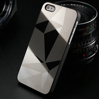 Mirror Stylish Aluminum Hard Phone Case for iphone 5 5S 5G Luxury back Cover for iphone5 Bling Aluminium Metal  New Arrival OYO