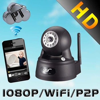 IPS 2.0MP Wifi Function Pan/Tilt Support 32GTFCard  3.6mm fixed lens Day&Night Household HD IP security camera (IPS-Eye01W)