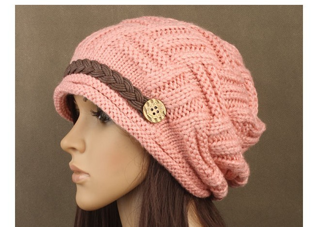 Winter New Arrival Women's Hats Solid Color Lady's Caps Acrylic Warm Woman's Headwear Quality Goods Nice Hat For Female(China (Mainland))