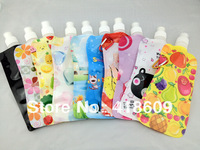 10 x Quality Foldable drink water bottle 480ml Outdoor water container travel COLLAPSIBLE WATER BOTTLE mix 16 colors