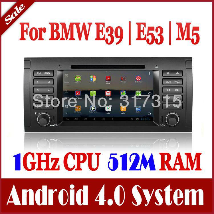 Android 4.0 Autoradio Car DVD Player for BMW E39 X5 E53 M5 with GPS