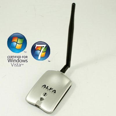 hk post free shipping long range high power 1000mW Alfa Network AWUS036H 150mbps USB Wireless WiFi Adapter 5dBi Antenna RT3070(China (Mainland))