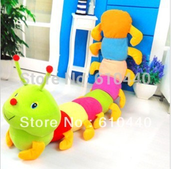 bridthday Festival gift cute Colorful caterpillars millennium plush toys 60cm Free Shipping