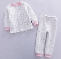 Girl's Air Cotton Nightwear Children Winter Clothing Set, 6 Sizes(6M, 12M, 18M, 24M, 3T, 4T)/lot  - CMBS02/CMBS03/CMBS04/CMBS08
