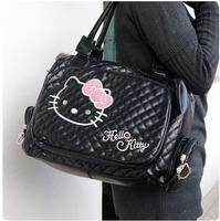 Fashion Women Hello Kitty Handbag Good Quality Girl Pink Black White Hello Kitty Bags Lovely Women PU Messenger Bag