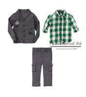 New Fashion Christmas Children Clothing Sets 3PCS Boys Jacket And Gird T Shirt And Kids Pants Boys Winter Clothes Pre-order