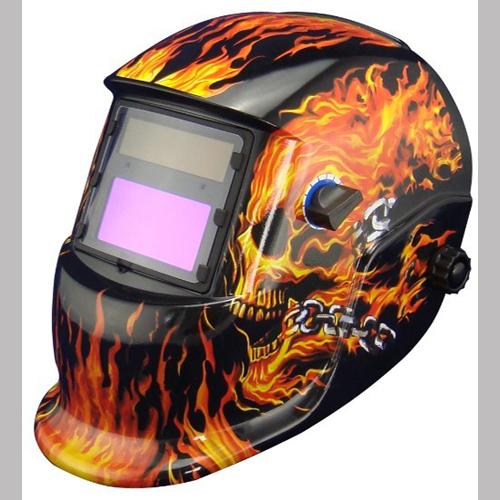 WH241100K MIG/TIG Solar Powered Welding Helme -Flame Fire Print Auto Darkening(China (Mainland))