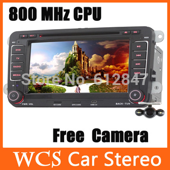 7  Inch Car CD DVD Player Radio GPS Bluetooth Ipod F/VW Golf Jetta EOS Caddy Polo Touran Fabia Amarok Transporter Roomster