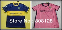 Roman 10 Boca Juniors home blue 13 14 best Thailand Quality Players version away pink soccer jersey Uniforms shirts