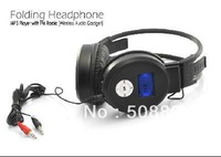 Folding Headphone MP3 Player with FM Radio (Wireless Audio Gadget) Free Shipping&Dropshipping