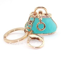 Min.order is $10 (mix order) Free Shipping new arrival high quality enamel colorful crystal cute bag keychain keyholder