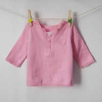 HOT! Retails(0-1.5Y) Children  Newborn Infant Baby Girl's T shirt  For Autumn Spring Long Sleeve Lace corner Tee ,