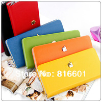 Free shipping wholesale and retail  Apple Piaoga PU fashion classic wallet card package Hot selling  wallet ,handbag ,sale!
