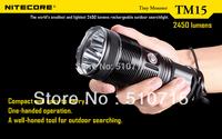 2014 Free Ems Nitecore Tm15 Xm-l U2 Led Tiny Monster 3x Cree Xml 2450 Lumens Flashlight Waterproof Rescue Search Torch M2826