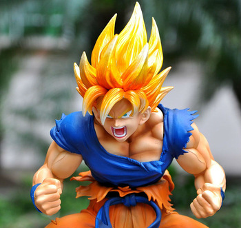 "Genuine Dragon Ball Z Action Figure Super Saiyan Goku / Kakarot Ver Anime PVC 11"" Super Cool Toy Free shipping"