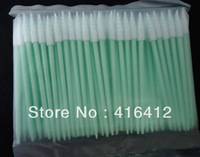 ( Pack of 500 ) Short Handle Cleanroom Foam tipped Cleaning Swab - Alternative to TX751B Small Compressed CleanFoam Swab
