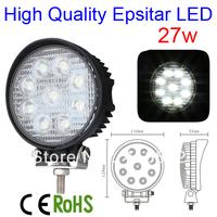 27W SPOT BEAM LED WORK OFFROADS LAMP LIGHT TRUCK BOAT CAMPING 12V 24V 4WD 4x4,27w high intensity epistar leds work lights lamp