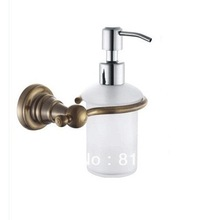 Soap Dispenser/Lotion Dispenser,Brass base with Antique Bronze finish+Frosted glass container,Bathroom Accessories,Free Shipping(China (Mainland))