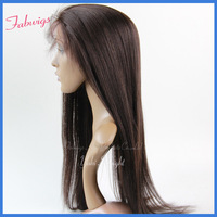 "Indian Remy Hair Lace Front Wigs #2 Yaki Straight 10-20"" Human Hair Front Lace Wig,Freeshipping tangle free,Cheap Lace wigs"