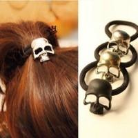 Sheegior Fashion punk skull head women Headbands Personality hair jewelry  Free shipping HO13Q
