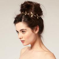 Sheegior 2014 Newest Fashion gold leafs women Headbands Tiara Victoria loves Hair Accessories Free shipping !