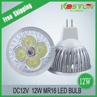 10X MR16/GU10/E27 DC12V 4X3W 12W High Power led Lamp Bulb Light led Spotlight Downlight