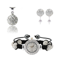 Classic Shamballa Watch Set With AB Clay Ball Fashion Shamballa Set Wedding Color SHSTG9