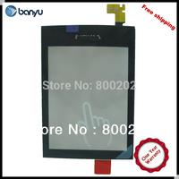 Touch Screen for Nokia Asha 300,Black Color,100% original Quality Assurance 20 pcs Free Shipping