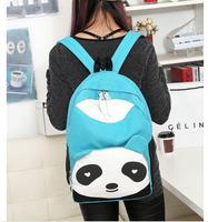 5 colors Panda backpack Canvas fashion travelling bag schoolbag Free shipping