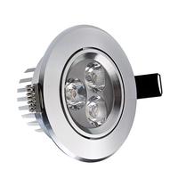 Low Price 70mm~75mm 3w LED lamp Silver cover LED Spot Light hot sale lights lighting HSD590