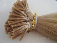 "18"" 20"" 22"" 22# ash blond Stick Color I tip PreBonded Human Hair Extensions Indian Remy 1g/s 0.8g/strands 100g/lot AAA Grade"