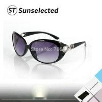 Freeshipping Fashion Glasses Women's Vintage Sunglasses w/ Crosslink Details Brand Designer Beach Coating Sports Eyewear SG43